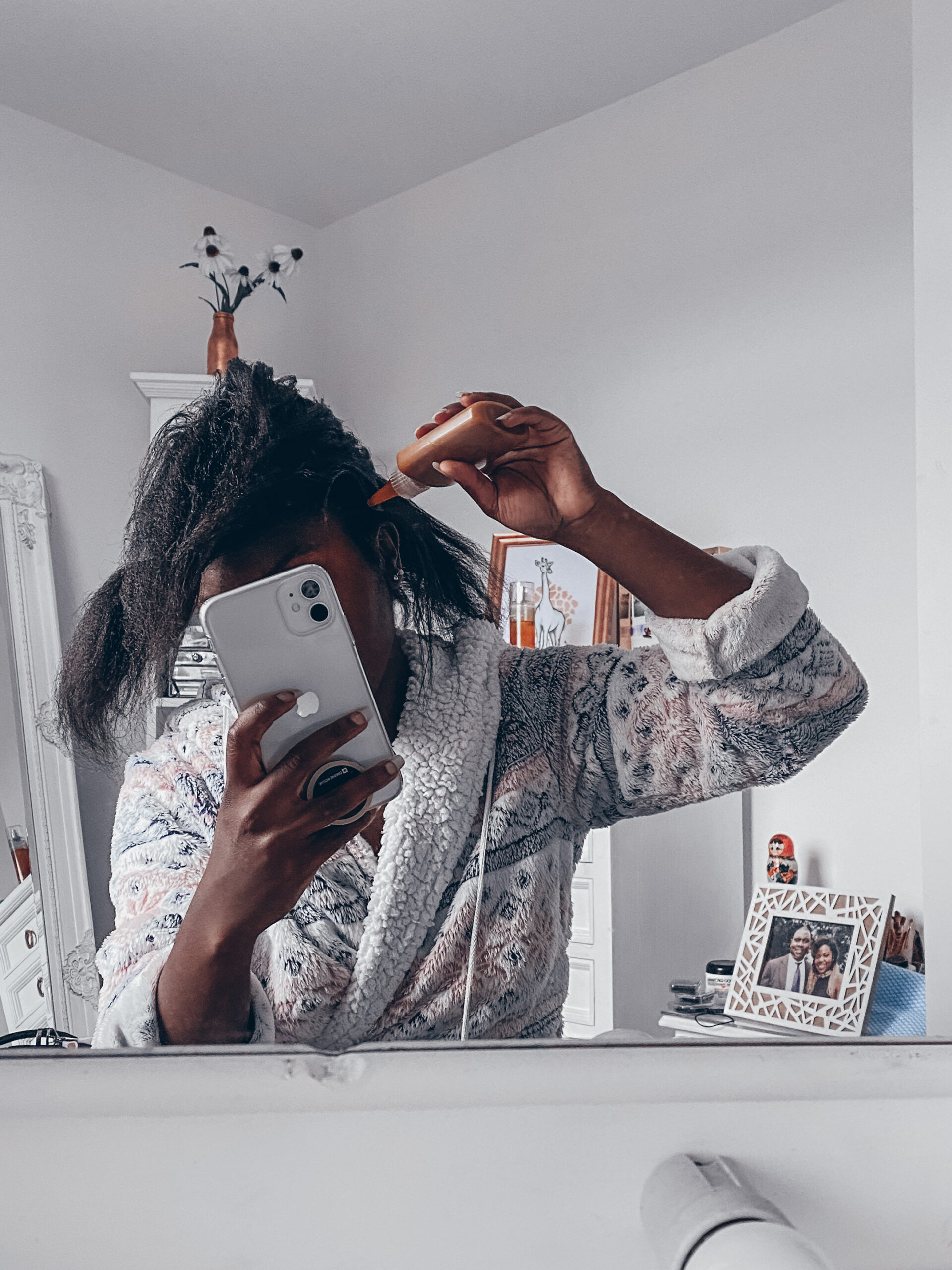 The Hair Fuel mask in application process - A Diary Of A Chik